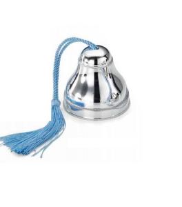 Carillon in argento con cordoncino azzurro bimbo cm.8h diam.7