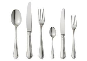 Cucchiaio tavola stile Venezia acciaio argentato cm.20,5