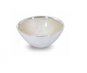 Ciotola tonda in vetro e argento cm.5h diam.11