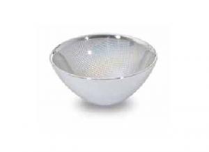 Coppetta in vetro e argento cm.5h diam.11