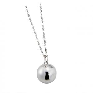 Collana chiama angeli in argento massiccio 925 rodiato senza nichel con catena con ciondolo ciondolo diametro 180 mm cm.80