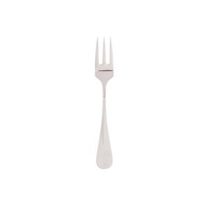 Forchetta dolce in acciaio argentata argento stile baguette cm.14,5x2