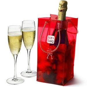 Ice bag rosso cm.11x11x25,5h