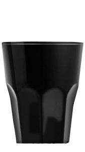 Bicchiere acrilico nero lucido ml 100 cm.10h diam.8,3