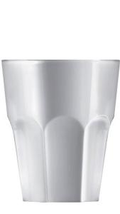 Bicchiere acrilico bianco lucido ml 100  cm.10h diam.8,3