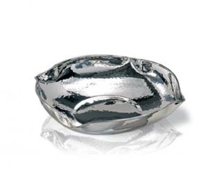 Ciotola argentata argento stile martellata cm.5h diam.21