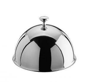 Cloche campana in acciaio con pomello cm.12h diam.22