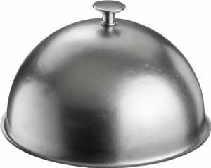 Cloche Campana tonda in acciaio inox Anticato Stone Wash stile Inglese cm.15,5h diam.25,5