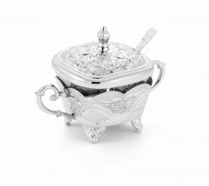 Zuccheriera quadra argentata argento