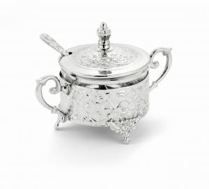 Zuccheriera tonda argentata argento