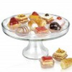 Alzata in vetro per dolci e frutta cm.12,7h diam.26