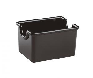 Porta bustine nero per zucchero e tè cm.8,5x6,5x5h