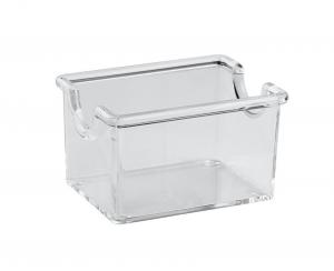 Porta bustine trasparente per zucchero e tè cm.8,5x6,5x5h