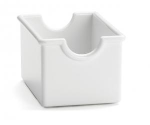 Contenitore porta bustine bianco per zucchero e tè cm.8,5x6,5x5h