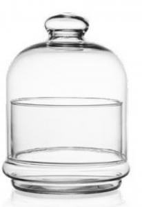 Portaconfetti con campana in vetro cm.12,5h diam.10