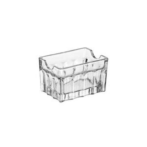 Portabustine per tè e zucchero in vetro cm.8,5x6x5,4h