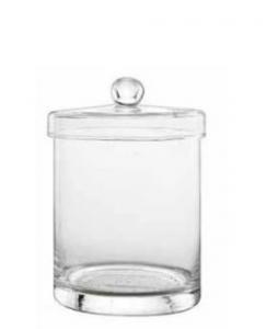 Contenitore in vetro per Biscotti con coperchio cm.16h diam.11