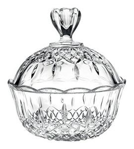 Scatola in vetro cristallino per dolci e caramelle Opera RCR cm.19,5h diam.17,5