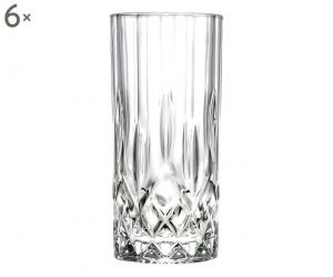 Bicchieri in Cristallo stile Opera Rcr Set 6 pezzi cm.15h diam.6,7