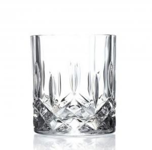 Bicchieri Whisky di Cristallo stile Opera Rcr Set 6 pezzi cm.8,5h diam.7