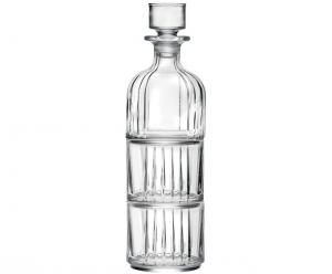 Set Bottiglia e 2 Bicchieri Impilabili stile Combo cm.9x9x32h Ø9