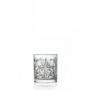 Bicchiere Acqua in Cristallo stile Tattoo Rcr Set 6 pezzi cm.9,4h