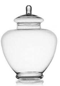 Contenitore in vetro con coperchio cm.38h diam.28
