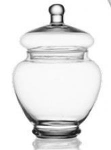 Contenitore in vetro con coperchio cm.18,5h diam.8,5