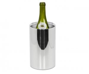 Glacette per Bottiglia Acciaio Inox Argento cm.20h diam.12