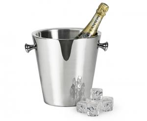 Secchiello Ghiaccio per Bottiglie vino con pomelli Argentato argento cm.23h diam.22,5