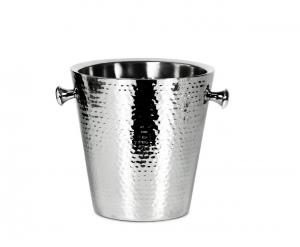 Secchiello Ghiaccio per Champagne Acciaio Inox stile martellato