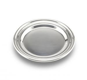 Sottobicchiere argentato argento stile Inglese cm.0,5h diam.11