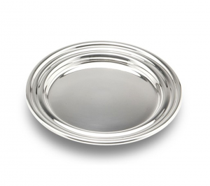 Piattino pane argentato argento stile Inglese cm.0,5h diam.12