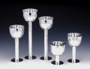 Vaso argentato argento silver plated stile Cardinale cm.13h diam.11,5