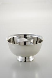 Alzata tonda liscia per dolci argentata argento silver plated cm.7h diam.10,5