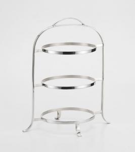 Alzata tonda pasticceria porta piatti stile Cardinale argentato argento sheffield cm.30x45h
