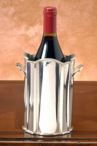 Portabottiglia argentato argento sheffield stile 700