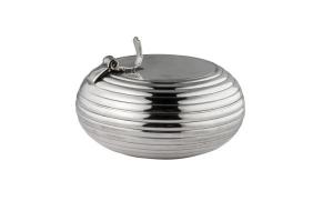 Portacenere argentato argento sheffield cm.7x4