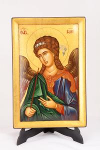 Icona Bizantina Arcangelo Gabriele Dipinta a Mano 20x30 cm