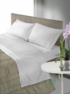 Set lenzuola matrimoniale 2 piazze raso di cotone ZEFIRO bianco