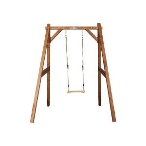 Altalena per bambini in legno per giardino con telaio marrone di AXI
