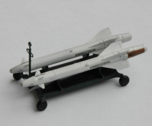 Aerial bombs transport cart with the KAB-1500L bomb (set contains transport cart and two bombs)