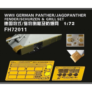 PANTHER / JAGDPANTHER FENDER /SCHURZEN& GRILL SET