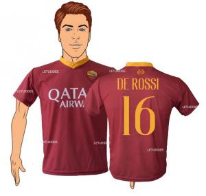 9574e9b8d0 Maglia As Roma De Rossi 16 2018/2019 replica ufficiale Autorizzata