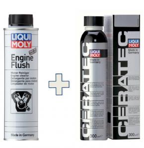 Kit Additivi Liquimoly X Cambio Olio - Lm 2678 Engine Flush + Lm3271 Ceratec