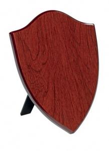 Crest scudo legno mogano MDF cm.10,2x1,5x15,2h
