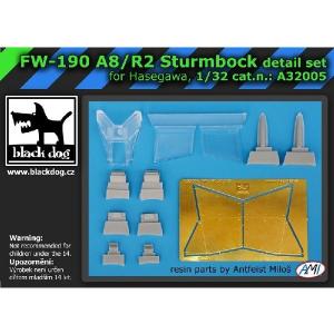 FW-190 A8/R2 STURMBOCK SET DI DETTAGLIO (HAS)