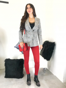 Jeans donna skinny elasticizzato con effetto push up TG XS/S/M/L/XL