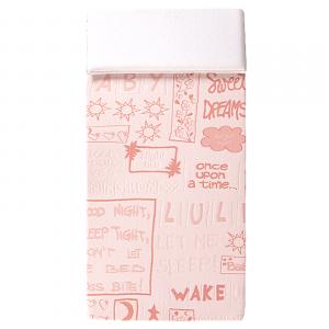 Materasso Lettino o Culla per Bambini alto 12 cm colore Rosa + Cuscino Antisoffoco su misura Gratis con Fodera in Cotone Naturale, Rivestimento Sfoderabile con Zip e Lavabile in lavatrice - Minny