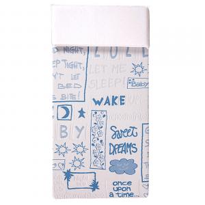 Materasso Lettino o Culla per Bambini alto 12 cm colore Blu + Cuscino ANTISOFFOCO su misura GRATIS con Fodera in Cotone Naturale, Rivestimento Sfoderabile con Zip e Lavabile in lavatrice, tessuto ANALLERGICO, Antibatterico, Antiacaro e Super Traspirante, Materassino Baby Ortopedico ideale per Letto Singolo Bambino o Culla Neonato, Materassi Evergreen - lastra in poliuretano, Schiuma Espansa ad acqua, water foam - Ecologico con Certificazione OEKO-TEX, 100% Made in Italy
